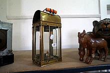 Old drass hanging kero lantern