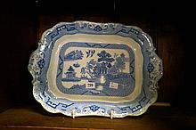 Vic willow pattern meat plate