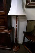 Early C20th blackwood standar lamp