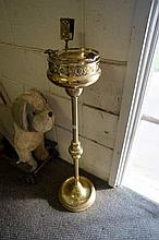 Early C20th brass Smokers stand