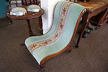 Victorian spoon back nursing chair with part of