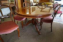 Vic cedar round tilt top drum edge dining table