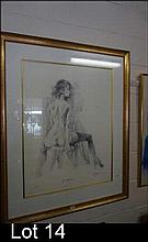 Framed ltd edition lithograph by Charles Billich,