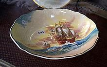 R/Doulton famous ships bowl, Flagship The Henry Gras A dieu