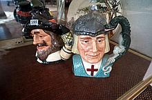 2 large R/Doulton character jugs, St George & Guy Fawkes