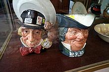 2 large R/Doulton Character jugs Parson Brown & Mad Hatter
