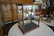 Single door table top glass showcase 48w x 33d x 62h