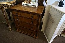 Georgian oak chest 4 drawer small chest of drawers