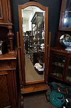1920's blackwood cheval mirror