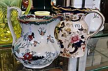 Early C19th Masons jug & later Masons jug