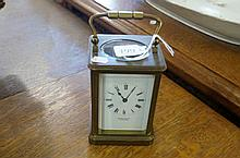 Vic brass carriage clock with striking gong