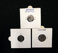 2 Edward I silver hammered pennies & Henry V groat