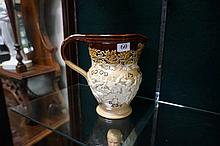 Doulton Lambeth stoneware jug inscribed Good is not good enough