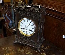 Vic bronze cased mantle clock