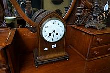 Edw inlaid mah mantle clock