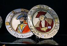 2 R/Doulton rack plates, The Admiral & the Mayor