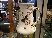 Vic h/painted porcelain jug