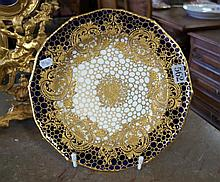 Mid C19th Derby gilded plate