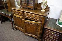 Early C20th French oak sideboard