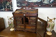 Late Vic ornate 5 drawer smokers cabinet with