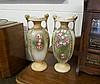 Pr Edw floral vases