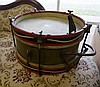 Early C20th brass & painted wooden drum