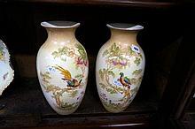 Pr Edw C/Devon blush ivory vases