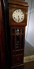 1920's oak 3 weight grandfather clock