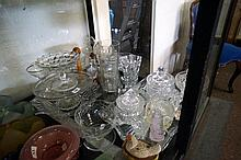 Assorted 19th Century & later glassware & crystal