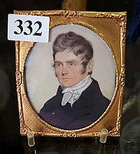 Early 19th Century watercolour miniature of young Gent