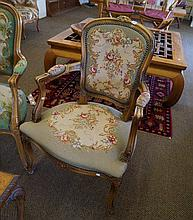 French tapestry arm chair