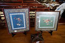 Pr Chinese framed silk embroideries