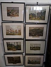 Set of 8 early 19th Century sporting prints