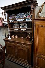 French oak rustic open back dresser