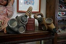 2 WWII gas masks