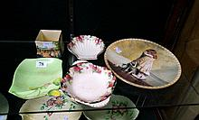 Royal Doulton miniature vase, cottage garden, 2 clover dishes, R/Winton dis