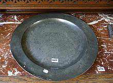 18th Century pewter charger