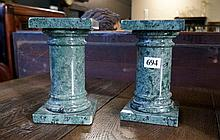 Pr green marble pillars