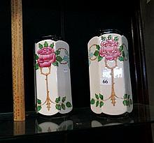 Pr antique Delton ware vases