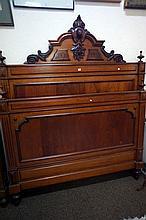 French 19th Century mahogany double bed & rails