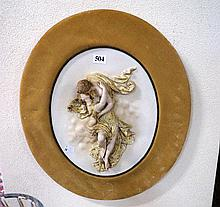 19th Century German bisque figured wall plaque