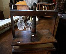 19th Century mahogany book press
