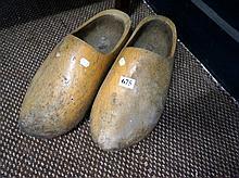 Pr old wooden clogs