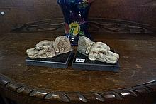 Pr dog bookends/paperweights