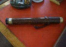 WWII leather covered telescope by W.Ottway dated 1941