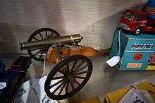 Wooden & brass model of early 19th Century artillery canon