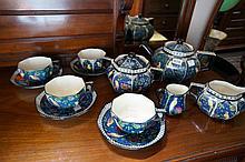 Royal Doulton Persian tea set for 4 inc tea pot