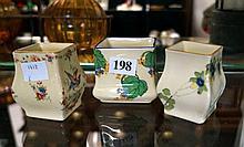 3 Royal Doulton miniature floral bud vases
