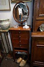 Antique 3 drawer shaving stand