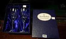 Pr Royal Doulton crystal wine glasses in box